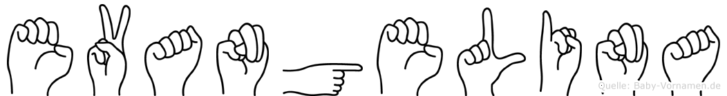 Evangelina im Fingeralphabet der Deutschen Gebärdensprache
