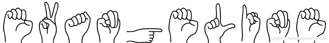 Evangeline im Fingeralphabet der Deutschen Gebärdensprache