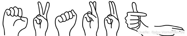 Evaruth in Fingersprache für Gehörlose