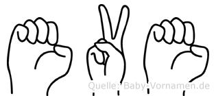 Eve in Fingersprache für Gehörlose