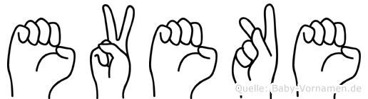 Eveke in Fingersprache für Gehörlose