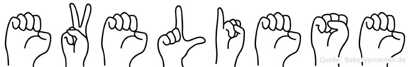 Eveliese in Fingersprache für Gehörlose