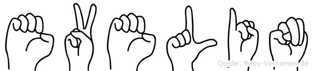 Evelin im Fingeralphabet der Deutschen Gebärdensprache