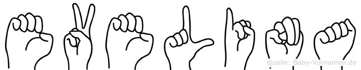 Evelina im Fingeralphabet der Deutschen Gebärdensprache