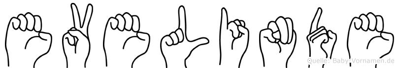 Evelinde im Fingeralphabet der Deutschen Gebärdensprache