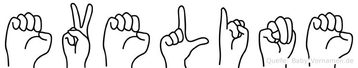 Eveline in Fingersprache für Gehörlose