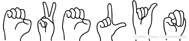 Evelyn in Fingersprache für Gehörlose