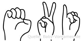 Evi im Fingeralphabet der Deutschen Gebärdensprache