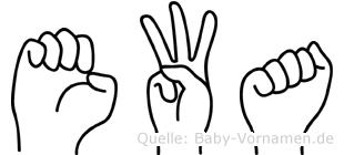 Ewa in Fingersprache für Gehörlose