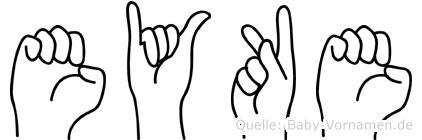 Eyke in Fingersprache für Gehörlose