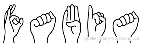 Fabia in Fingersprache für Gehörlose
