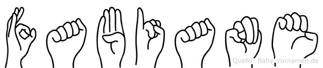 Fabiane in Fingersprache für Gehörlose