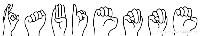 Fabienne in Fingersprache für Gehörlose