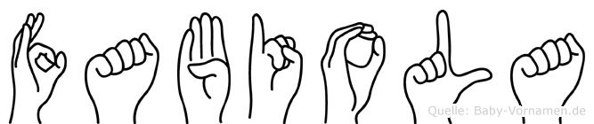 Fabiola im Fingeralphabet der Deutschen Gebärdensprache