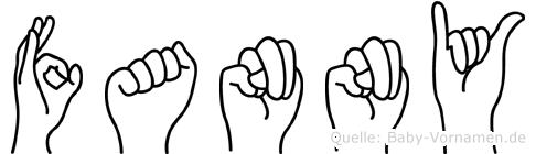Fanny in Fingersprache für Gehörlose
