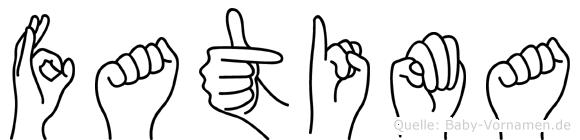 Fatima in Fingersprache für Gehörlose