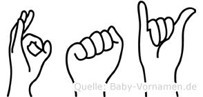 Fay in Fingersprache für Gehörlose