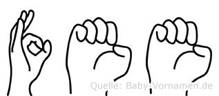 Fee in Fingersprache für Gehörlose