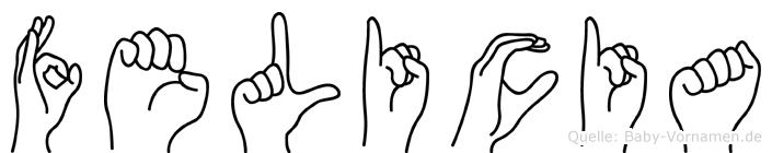 Felicia in Fingersprache für Gehörlose