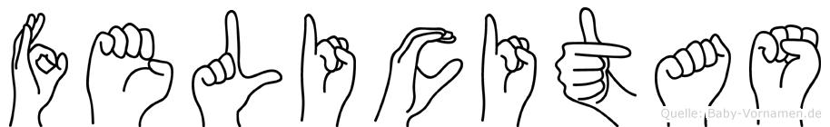Felicitas in Fingersprache für Gehörlose