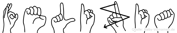 Felizia im Fingeralphabet der Deutschen Gebärdensprache