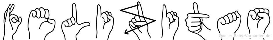 Felizitas im Fingeralphabet der Deutschen Gebärdensprache