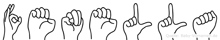 Fenella in Fingersprache für Gehörlose