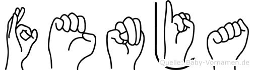 Fenja in Fingersprache für Gehörlose
