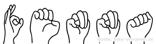 Fenna im Fingeralphabet der Deutschen Gebärdensprache