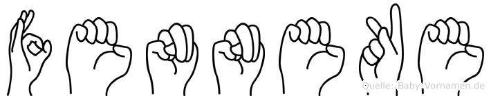 Fenneke in Fingersprache für Gehörlose