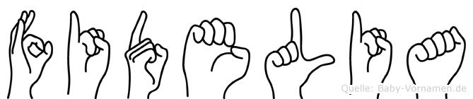 Fidelia in Fingersprache für Gehörlose
