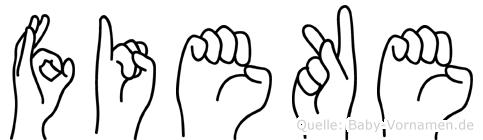 Fieke in Fingersprache für Gehörlose