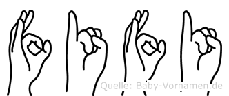 Fifi im Fingeralphabet der Deutschen Gebärdensprache