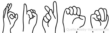 Fiken in Fingersprache für Gehörlose