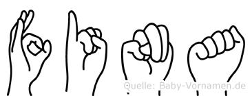 Fina in Fingersprache für Gehörlose