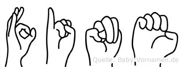 Fine im Fingeralphabet der Deutschen Gebärdensprache