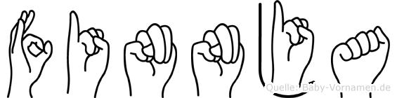 Finnja im Fingeralphabet der Deutschen Gebärdensprache