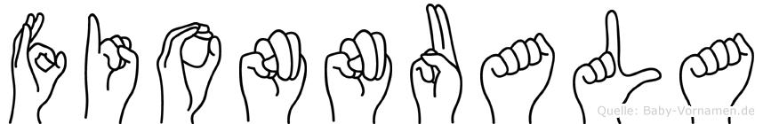 Fionnuala in Fingersprache für Gehörlose