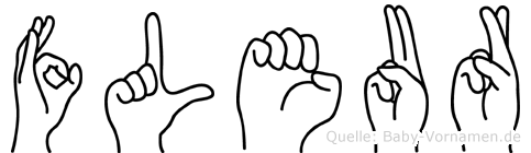 Fleur in Fingersprache für Gehörlose
