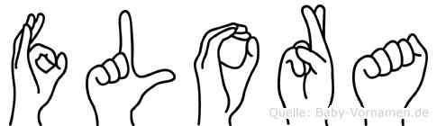 Flora in Fingersprache für Gehörlose