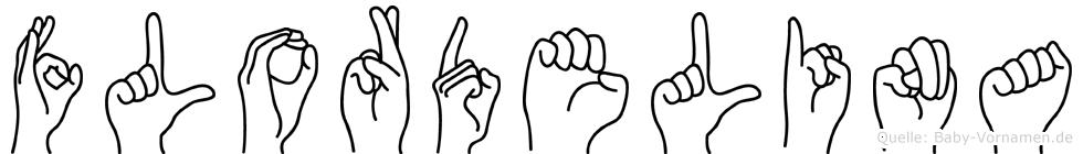 Flordelina im Fingeralphabet der Deutschen Gebärdensprache
