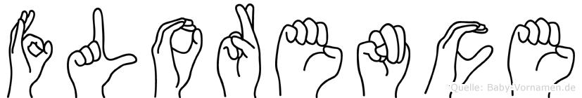 Florence in Fingersprache für Gehörlose