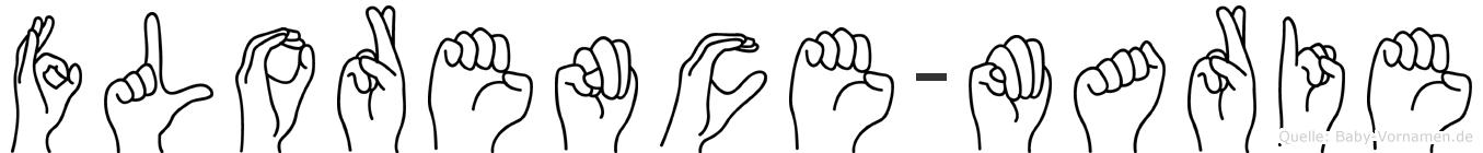 Florence-Marie im Fingeralphabet der Deutschen Gebärdensprache