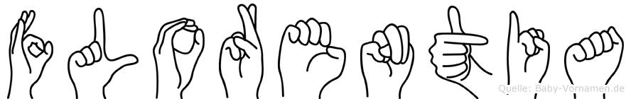 Florentia im Fingeralphabet der Deutschen Gebärdensprache