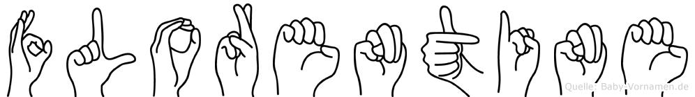 Florentine in Fingersprache für Gehörlose