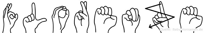 Florenze im Fingeralphabet der Deutschen Gebärdensprache
