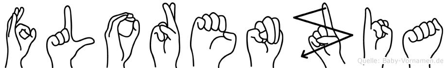 Florenzia im Fingeralphabet der Deutschen Gebärdensprache