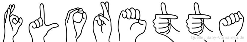 Floretta im Fingeralphabet der Deutschen Gebärdensprache