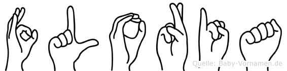 Floria in Fingersprache für Gehörlose