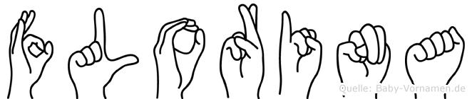 Florina in Fingersprache für Gehörlose